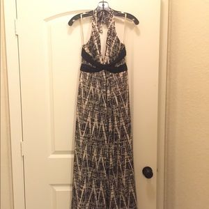BCBG long halter dress